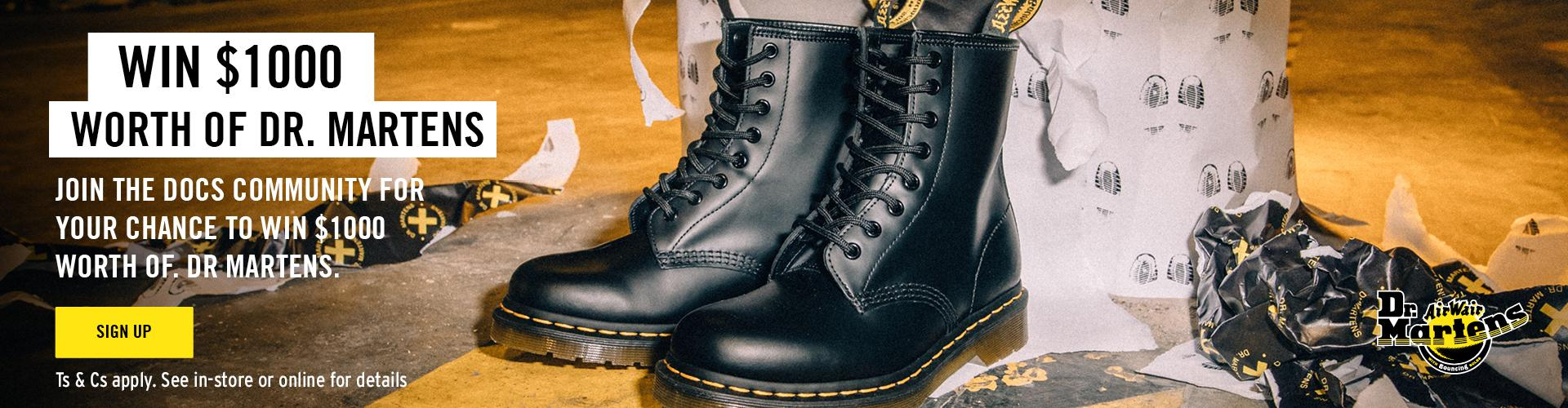Win $1000 worth of Dr. Martens